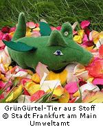 GrünGürtel-Tier aus Stoff © Stadt Frankfurt am Main, Umweltamt