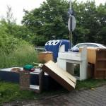Wilde Müllablagerung in Oberrad