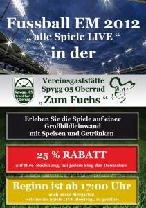 """Flyer Vereinsgaststätte """"Zum Fuchs"""""""