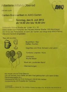 Plakat AWO Oberrad