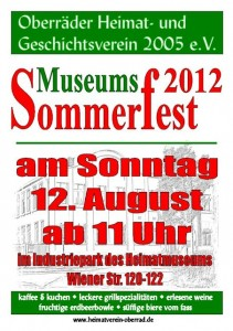 Flyer Museums-Sommerfest 2012